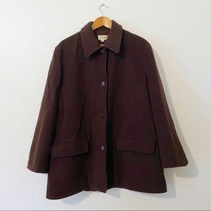 J.Crew Vintage Men's Brown Wool Barn Chore Coat